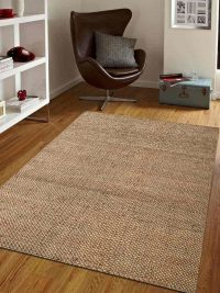 Hand Woven Jute Contemporary Eco-Friendly Area Rug Natural