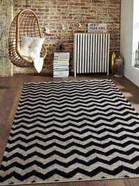 Hand Knotted Sumak Jute Contemporary Eco-Friendly Natural Area Rug Black Off White