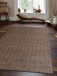 Hand Woven Jute Solid Eco-Friendly Area Rug Natural