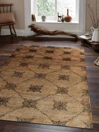 Hand Knotted Jute Eco-Friendly Natural Area Rug Contemporary Beige Green