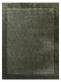 Hand Knotted Loom Wool Area Rug Contemporary Green