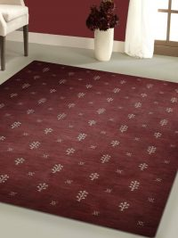 Hand Knotted Loom Wool Area Rug Contemporary Brown White