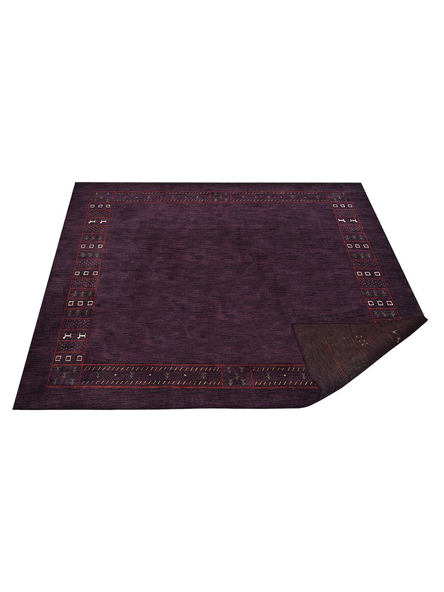 Hand Knotted Loom Wool Area Rug Contemporary Purple