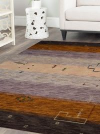 Hand Knotted Loom Woolen Area Rug Contemporary Multicolor