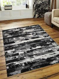 Machine Woven Polypropylene Area Rug Turkish Contemporary Silver