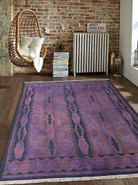 Hand Knotted Sumak Wool Area Rug Oriental Purple