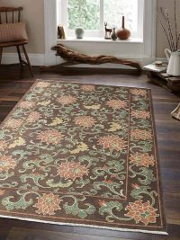 Hand Knotted Sumak Wool Area Rug Oriental Multi