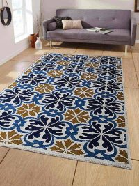 Hand Knotted Sumak Wool Area Rug Floral Multi