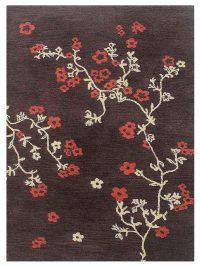 Hand Tufted Wool Floral Brown