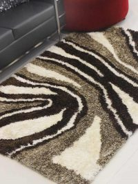 Hand Tufted Polyester Shag Area Rug Contemporary Multicolor K00039