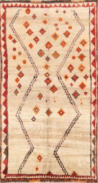 Gabbeh Qashqai Shiraz Persian Area Rug 4x7