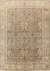 All-Over Floral Tabriz Persian Area Rug 9x12