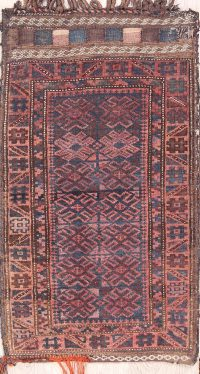 Geometric Tribal Saddle Bag Balouch Afghan Oriental Rug 2x4