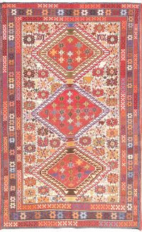 4x7 Kilim Shiraz Persian Area Rug