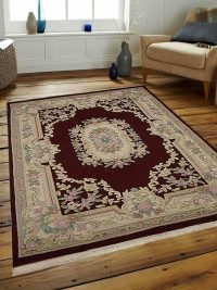 Hand Knotted Aras Wool Oriental Area Rug Vintage Red