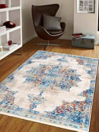 Crossweave Machine Woven Polyester Turkish Oriental Area Rug Multicolor
