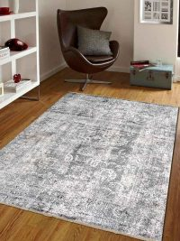 Crossweave Machine Woven Polyester Turkish Oriental Area Rug Brown