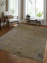 Hand Knotted Parsa Wool Oriental Area Rug Vintage Cream