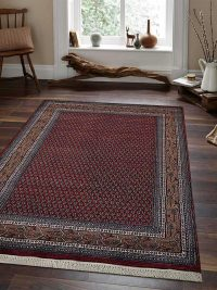 Hand Knotted Persian Wool Oriental Area Rug Pmir Red