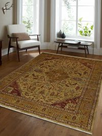 Hand Knotted Persian Wool Oriental Area Rug Tabrez Gold
