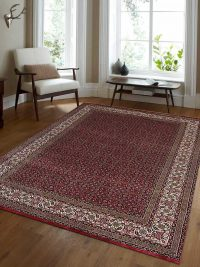 Hand Knotted Persian Wool Oriental Area Rug Bizar Red
