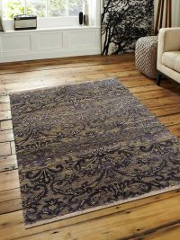 Hand Knotted Persian Semi-Worsted Wool  Oriental Area Rug Erez Grey