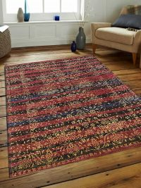 Hand Knotted Persian Wool Oriental Area Rug Erez Multicolor