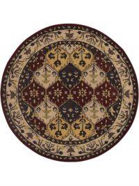 8x8 Tabriz Agra Oriental Round Rug