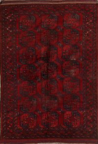 Antique Geometric Balouch Afghan Oriental Area Rug 8x11