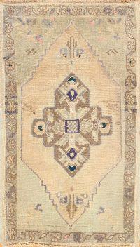 Geometric Oushak Anatolian Oriental Area Rug 2x3