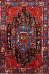 Tribal Geometric Nahavand Hamedan Persian Area Rug 5x7