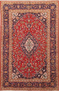 7x10 Kashan Persian Area Rug
