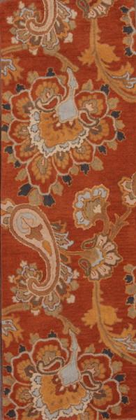 Hand-Tufted Oushak Oriental Runner Rug 3x8