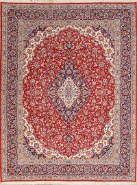 Soft Plush 10x13 Kashan Machine Made Persian Area Rug