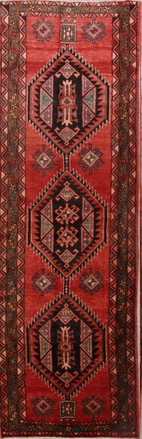 Geometric Goravan Heriz Persian Rug Runner 4x13