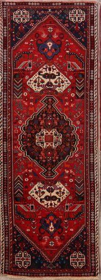 Geometric Tribal Kashkoli Shiraz Persian Runner Rug 3x9
