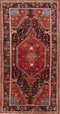 Geometric 4x8 Hamedan Persian Area Rug