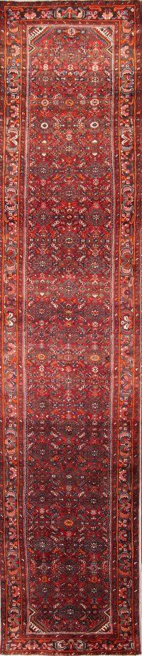 Floral  4x16 Hamedan Persian Rug Runner