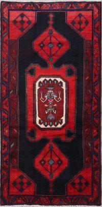 Geometric Tribal Hamedan Persian Runner Rug 4x8
