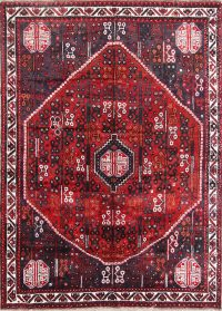 Geometric Tribal Red 6x9 Shiraz Persian Area Rug