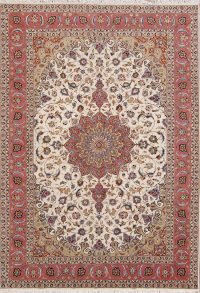 Wool/Silk Medallion Tabriz Persian Area Rug 7x10