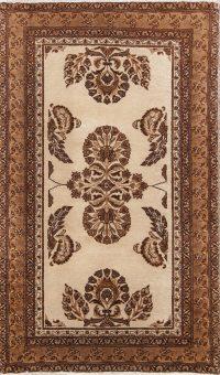 Floral Ivory 4x6 Ferdos Mashad Persian Area Rug
