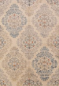 Geometric Floral Machine Made Belgium Oriental Area Rug
