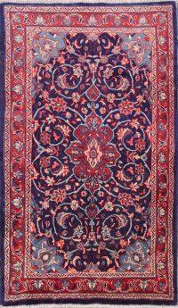 Floral Medallion Sarouk Persian Area Rug 4x7