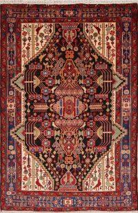 Geometric Tribal Nahavand Hamedan Persian Area Rug 4x7