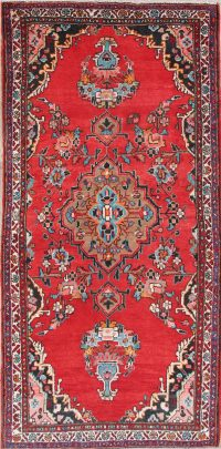 Floral Hamedan Persian Area Rug 4x7