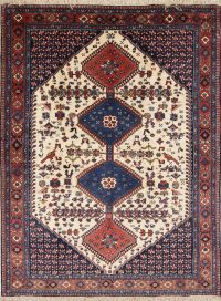 Geometric Tribal Yalameh Shiraz Persian Area Rug 5x6