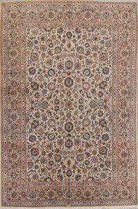 Floral Kashan Persian Area Rug 9x13