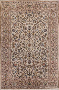 Floral Kashan Persian Area Rug 9x13