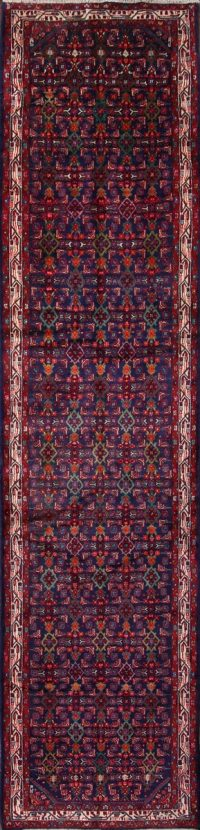 Floral Malayer Hamadan Persian Runner Rug 4x16